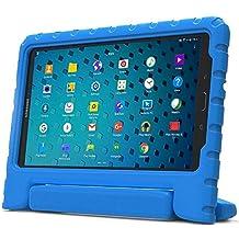 Samsung Galaxy Tab 3 Lite 7.0, E 7.0 Funda de niños, COOPER DYNAMO Funda dura protectora para choques y uso pesado para niños con agarre de mano, estante trasero y protector de pantalla incluido (Azul)