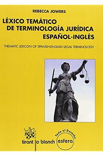 Léxico temático de terminología jurídica español