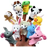 seguryy 10 piezas Animal marionetas de dedo con manos y pies para niños juguetes y juegos