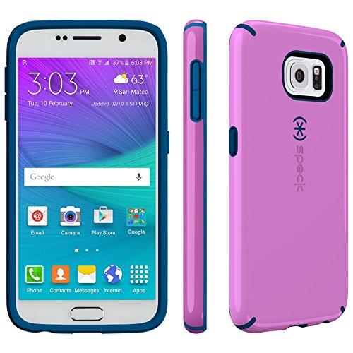Speck Products Candyshell Schutzhülle für Samsung Galaxy S6-Retail Verpackung-strahlt Orchidee violett/Deep Sea Blau (Die Blauen Und Violetten Tisch Deckt)
