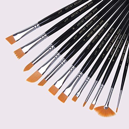 12 Pcs Paint Brush Set Farbe Gouache Malerei In Ölgemälde Paletten Pens - Vintage Paint Brush