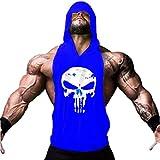 ROBO Chaleco Para Hombres Deportivo Camiseta de Tirante Sudadera con Capucha Canotterie Gimnasio Músculo Formación Túnica Tank Top Sin Manga