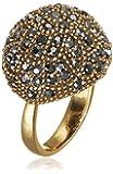 Pilgrim Jewelry Damen-Ring Messing Pilgrim Damen-Ring aus der Serie Big rings vergoldet,grau  2.0 cm 271332144