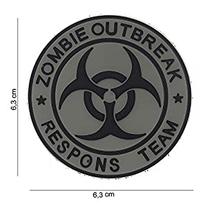 """Patch 3D PVC """"Zombie Outbreak Respons Team"""" Gris / Cosplay / Airsoft / Camouflage"""