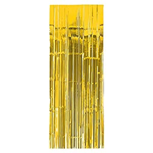 Amscan International-24200-0991cm x 2,43m color amarillo cortina para puerta