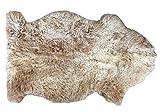Schaffell Teppich MILCHKAFFEE Naturbunt ungefärbt naturbelassen hellbraun ocker Dekofell Lammfell