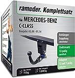 Rameder Komplettsatz, Anhängerkupplung abnehmbar + 13pol Elektrik für Mercedes-Benz C-Class (113670-06224-4)