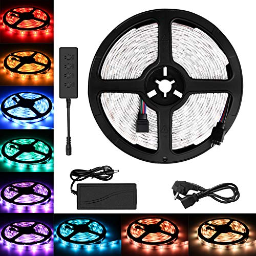 5M 5050 RGB LED que cambia de color tiras de LED EU...