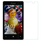Phonicz Retails 9H Hardness Crystal Clear Clarity Edge to Edge Fitting Flexible Tempered Glass for Microsoft-Lumia-532 (transparent)