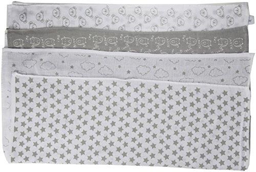 Care 4141 Schal, Mehrfarbig (Light Grey 142), One Size (Herstellergröße: 7070 cm), 4er-Pack