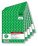 Sigel SD131/5 Rechnungen fortlaufend nummeriert, A5, 50 Originale//50 Kopien, selbstdurchschreibend, 5er Pack