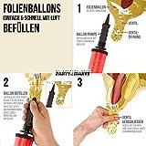 PartyMarty Ballon Zahl 50 in Gold - XXL Riesenzahl 100cm - zum 50. Geburtstag - Party Geschenk Dekoration Folienballon Luftballon Happy Birthday GmbH® - 3