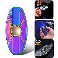 Inpay - USB Recargable Electrónico Cigarrillo Encendedor - Vistoso LED Luz Antiviento Bobina Mini Mechero -