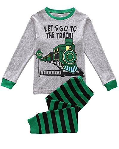 Tkiames Jungen Schlafanzug Langarm Herbst Winter Kinder Nachtwäsche Pyjama Sets 98 104 110 116 122 128 134 (Dragon Komfort-hose)