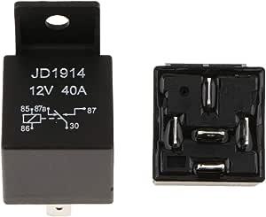 B Blesiya Paar 12 V 40a 5 Pins Micro Relais Sockel Anschließbare Umschaltrelais Auto