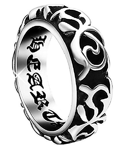 560324835c9 Inception Pro Infinite Ring mit Tribal-Muster in Relief und Inside Writing  - Chrome Hearts
