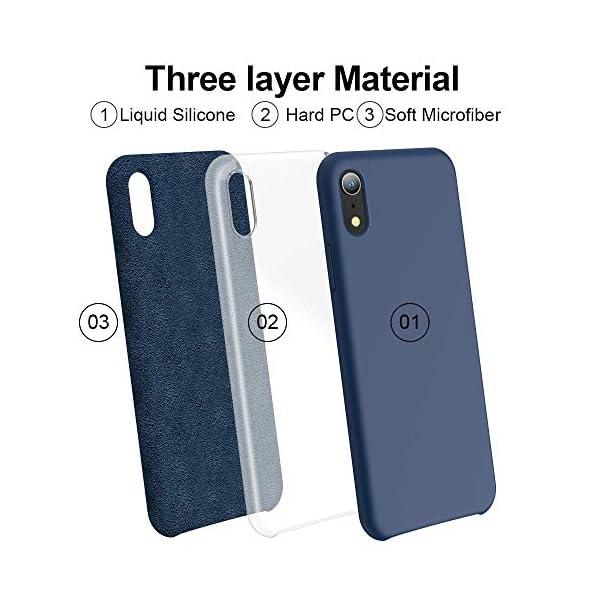 Oihxse Mate Líquido de Silicona Gel Funda - Compatible con Samsung Galaxy A50 Ultra Fina Suave Protección Carcasa… 4