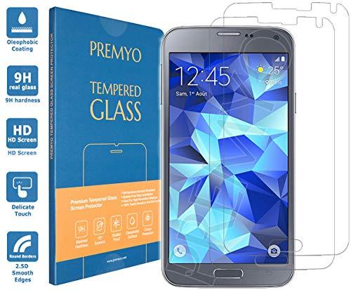PREMYO 2 Pezzi Compatibile con Vetro Temperato Samsung Galaxy S5 Neo
