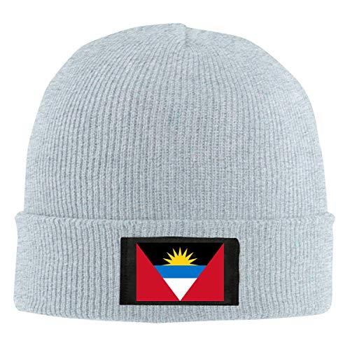 DLing Flagge von Antigua und Barbuda Beanie Mütze Winter Warm Knit Skull Hat Cap für Unisex Schwarz