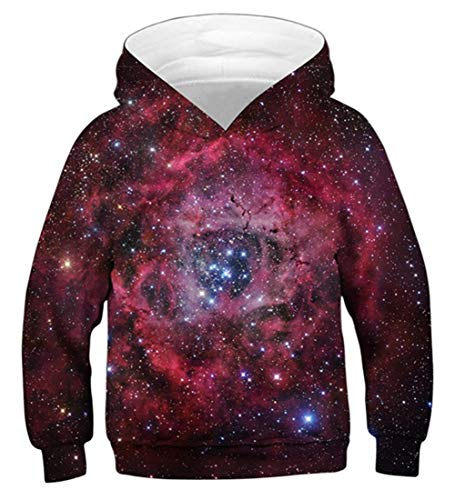 Hoodie 3D bedrucktes Langarm-Sweatshirt Crewneck Teenager mit Kapuze Pullover XL ()