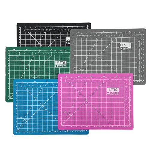 UESTA A4 (300 x 220 mm) Self Healing 5 Capas PVC Cutting Mat Alfombrillas De Corte Para Acolchar (Gris)