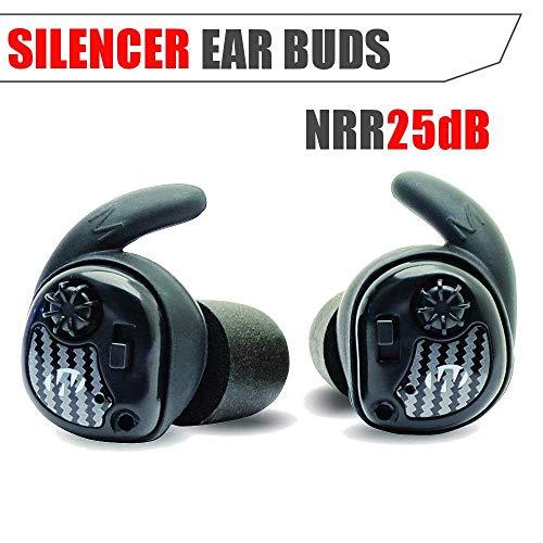 Walker 's Game Ear Unisex Rasierer Schalldämpfer Kopfhörer (Paar), schwarz, 1Stück