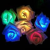 New Rose Flower LED String Decoration Light For Wedding Garden Diwali Christmas Festival Decoration
