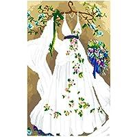 Diamante pintura, nelnissa diamante boda con forma de vestido bordado de 5d diy decoración del hogar de punto de cruz