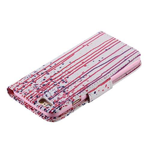 PU Cuir Coque Strass Case Etui Coque étui de portefeuille protection Coque Case Cas Cuir Swag Pour Apple iPhone 6 (4.7 pouces) +Bouchons de poussière (2LA) 1