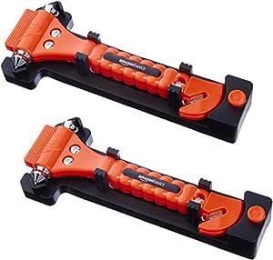 AmazonBasics Emergency Seat Belt Cutter and Window Hammer - 2-Pack