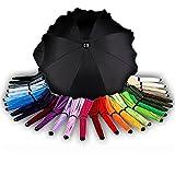 BAMBINIWELT Sonnenschirm für Kinderwagen Ø68cm UV-Schutz50+ Schirm Sonnensegel Sonnenschutz (Schwarz)