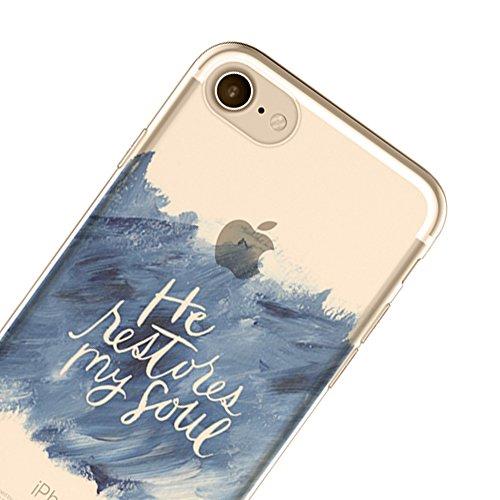 """Anti-scratch Case TPU Silikon Schutzhülle Sunroyal Handyhülle durchsichtig für iPhone 7 Plus 5.5"""" Ultra Dünn Flex Hülle stoßdämpfende kristallklar Leichte Weichem Aquarell Tasche Schutz Etui mit TPU G W06"""