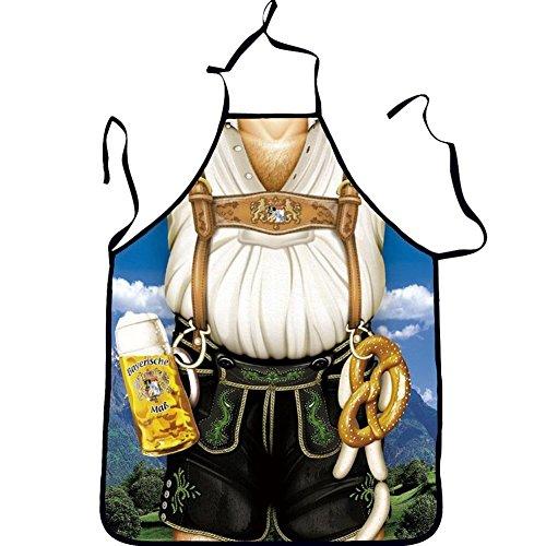 QEES Spaß Schürze Sexy Schürze Kochschürze Schutzschürze Küche Kochen Dame Lustige Küchenschürze Unisex-Erwachsenen-Schürze Geschenk für Frauen WQ10 (Tochter vom Bauer) (Verkleiden Kostüme Bauer)