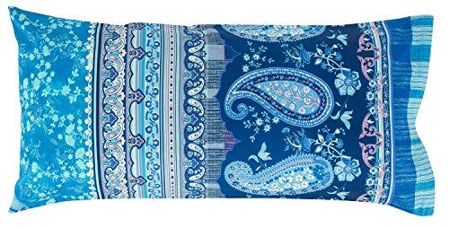 Bassetti ANACAPRI V3 Housse de Coussin Bleu 40 x 80 cm