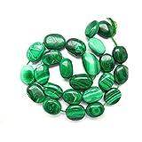 """Auténtica Malaquita Natural Gemstone Plain Top calidad ovalada cuentas 16""""Strand Perlas de Perlas de ovalado, Semiprecious, piedra perlas, perlas de cuentas Oval, Natural"""