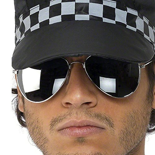 Lunettes de pilote lunettes de soleil pilote lunettes de porno pilotes aviateur lunettes de pilotes costume accessoire lunettes de policier lunettes pour policier Ixp0NPo