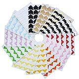 13 Blätter Foto Ecken Selbstklebend Fotoecken für DIY Scrapbook