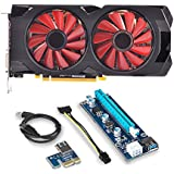 XFX RX-570P427D6 Radeon RX 570 4GB GDDR5-1.17 GHz Core - 1.28 GHz Boost Clock - Graphics Card and PCI-E Riser for ETH Etheruem ZEC Zcash XMR Monero Cryptocurrency Mining