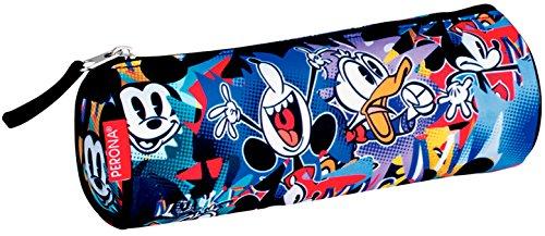 Mickey Mouse- Estuche portatodo Tubo, Multicolor, 22 cm (Montichelvo 53999)