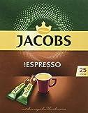 JACOBS Espresso Löskaffee Sticks, 25 Instantkaffee Getränke, 45 g
