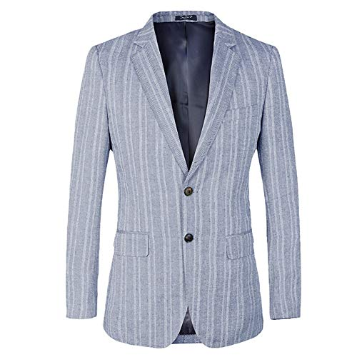 NANDY PERSONAL CARE Herren Anzugjacke Stripe Dark Blue Slim ()
