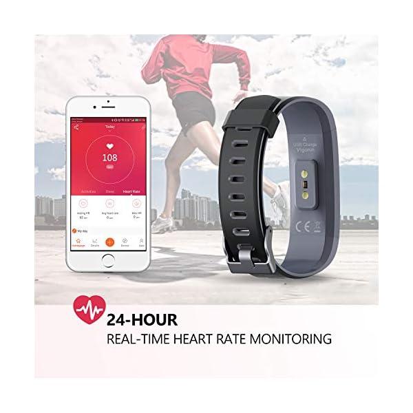 Monitores de Actividad, Vigorun Fitness Tracker Smart Pulsera con Monitor de frecuencia cardíaca Pulsera Inteligente… 3