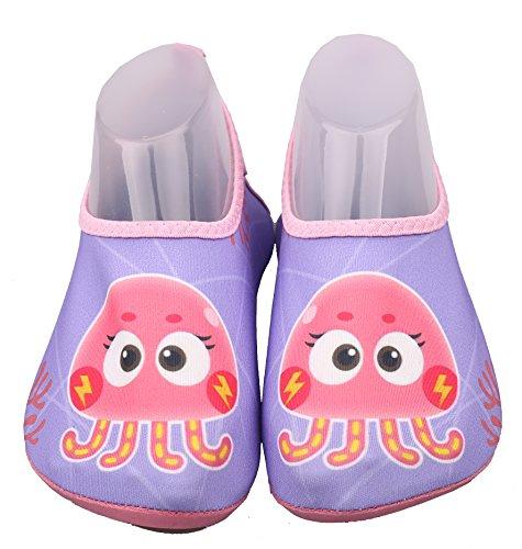ABClothing Kinder Octopus Wasser Schuhe Quick-Dry Jungen und Mädchen Slip-On Aqua Beach Turnschuhe (Kleinkind/kleines Kind/großes Kind) Pink Octopus Kleinkind US 13M-Little Kid 1M