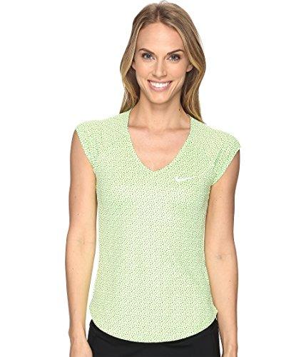 Nike W NKCT Pure Top SS PR Maglietta manica corta da tenis Donna, Verde (Ghost Green / White), XL