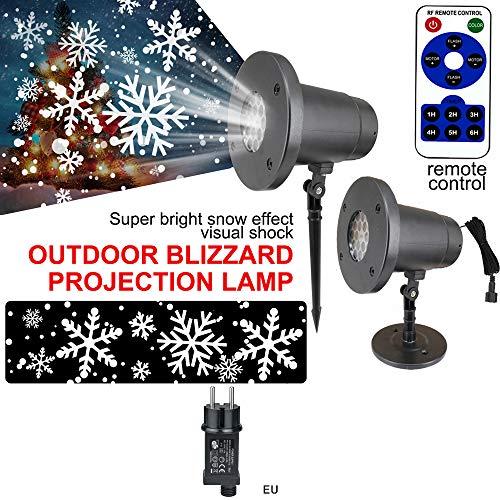 ONEVER Luci a LED rotanti colorate per palcoscenico rotante con illuminazione a fiocco di neve bianca con luci di scena rotanti