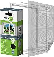 Easy Life Moustiquaire pour fenêtre à dimensions ajustables 150 x 180 cm