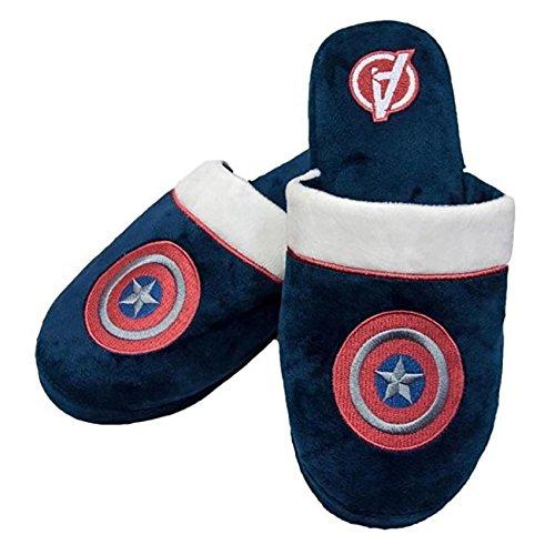 Navy Marvel Comics Captain America Slip On Slippers