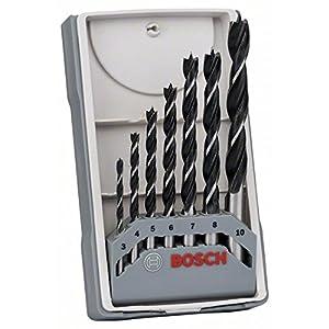51 spp6MlkL. SS300  - Bosch Professional 2 607 017 034 Bosch 034-Set de 7 Brocas para Madera-3,4,5,6,7,8,10 (Pack de 7), 3-10 mm, Set de 7 Piezas