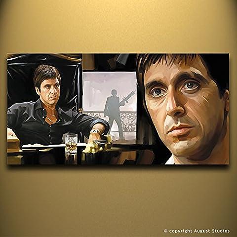 Scarface Al Pacino originale Artista firmato pittura poster Stampa Su Tela # 2, 36