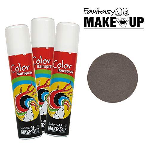 PARTY DISCOUNT® Haar-Color-Spray / Farbiges Farbiges Haarspray - lässt Sich Wieder auswaschen, - lässt Sich Wieder auswaschen, 75 ml Dose, grau